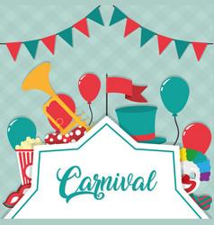 carnival festival concept vector image