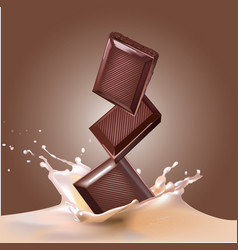 Chocolate and milk vector