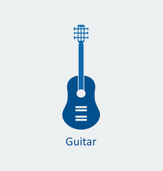 colored guitar icon silhouette icon vector image