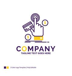 Company name logo design for ppc click pay vector