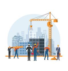 Construction engineer cartoon vector