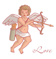 Cupid with quiver and arrows vector