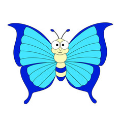 cute cartoon colorful butterfly vector image