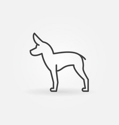 cute little dog icon vector image