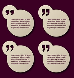 Eps10 paper quotation mark circle frames vector