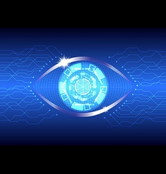 Eye technology vector