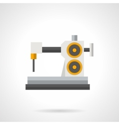 Factory sewing machine flat color icon vector
