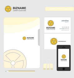 fan business logo file cover visiting card and vector image
