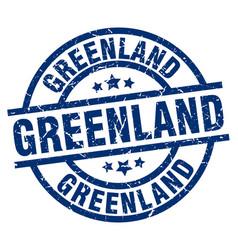 Greenland blue round grunge stamp vector