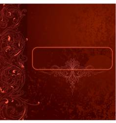 Grunge lace background vector