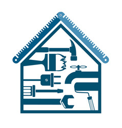 House with a tool for repairs vector
