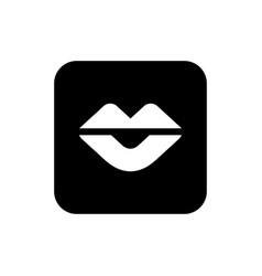 Human lips icon flat color icon design vector