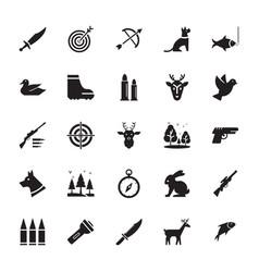 Hunting glyph icon vector