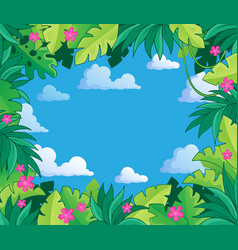 Image with jungle theme 2 vector