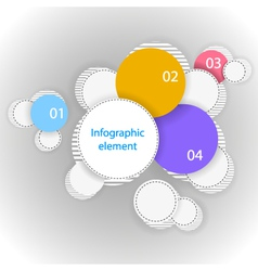 Infographic element Many circles vector