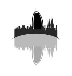 isolated cityscape of dubai vector image