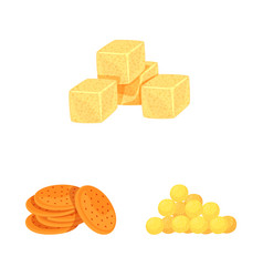 Isolated object food and crunchy icon vector