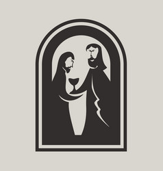 Jesus and disciple vector