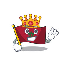 King morocco flag sticks to mascot wall vector