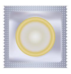 Latex condom mockup realistic style vector