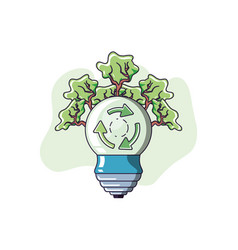 Light bulb and sustainability design vector