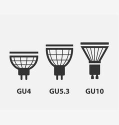 Light bulb icon llightbulb idea logo concept set vector