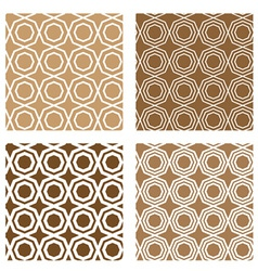 Line octagon tile seamless background vector