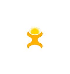 man sun logo vector image