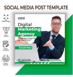 Marketing social media post vector