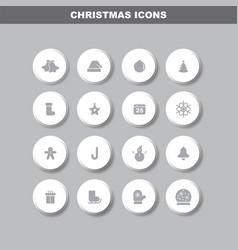 Merry christmas flat design icon set vector