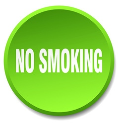 No smoking green round flat isolated push button vector