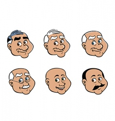 old man's face vector image