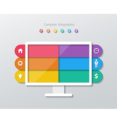 paper computer infographics vector image