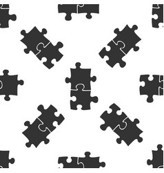 piece of puzzle icon seamless pattern vector image