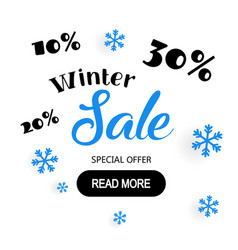 poster for winter sale background flat design vector image