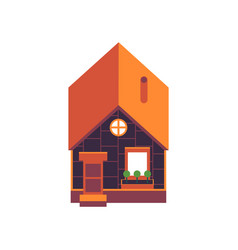 private house above view in vector image