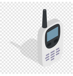 Radio with gps navigator isometric icon vector