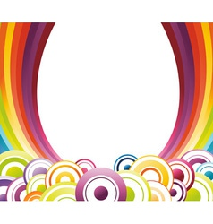 rainbow card template vector image