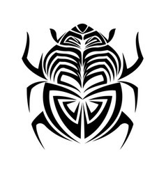 Scarab beetle hand drawn doodle insect vector
