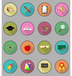 school education flat icons 19 vector image
