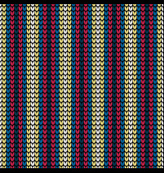 seamless color vertical knitting pattern vector image