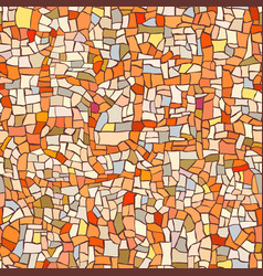 seamless pattern of marble orange mosaic vector image
