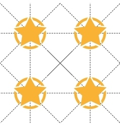 Seamless pattern with yellow stars and dotted vector image