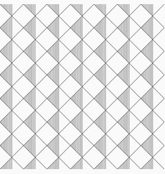 seamless rhombus pattern with striped triangles vector image