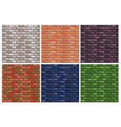 Seamless texture different color stone brick wall vector