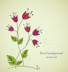 separate drawing flowers with space for text vector image