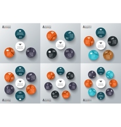 set of circles for infographics vector image