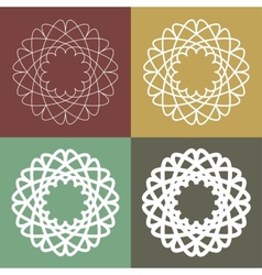 Set of circular linear icons vector