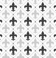 Shades of gray light and dark Fleur-de-lis vector