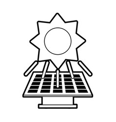 sketch silhouette image solar energy panel vector image